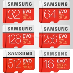 Memory Card Micro SD Samsung EVO Plus 3 SDXC Grade TF Class 10 High Speed 16gb 32gb 64gb 128gb 256gb 512gb