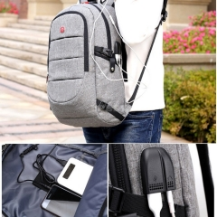 Backpack FL1605 Fashion Smart Bag Casual Waterproof for Laptop Men Women Travel School With USB Charging Anti theft Backpack