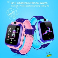 For Kids Q12B Children's Smart Watch Android Wristband Insert Card 2G Waterproof Remote GPS Locator Camera Call Anti-lost