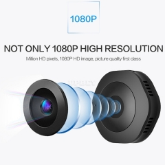 H6 WiFi Mini HD 1080P 120 Degree Wide Angle Wearable Smart Wireless Surveillance Camera Support Infrared Night Vision & Motion Detection Recording