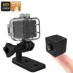 SQ12 Mini Sports Action Camera - FHD Resolutions,Loop-Cycle Recording, Motion Detection, Night Vision