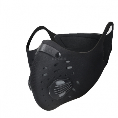 Unisex Activated Carbon Dust - proof Sports Healthy Mask Riding Sports Mask  black_One size