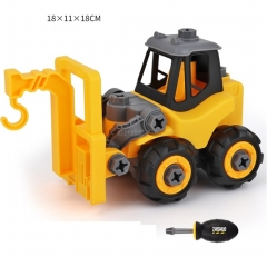 Children Take Apart Construction Educational DIY Engineering Vehicle Toys Gifts for Kids crane