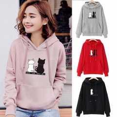 Women Fashion Loose Hooded Pullover Casual Long Sleeve Shirt Sweatshirt Hoodies Top pink