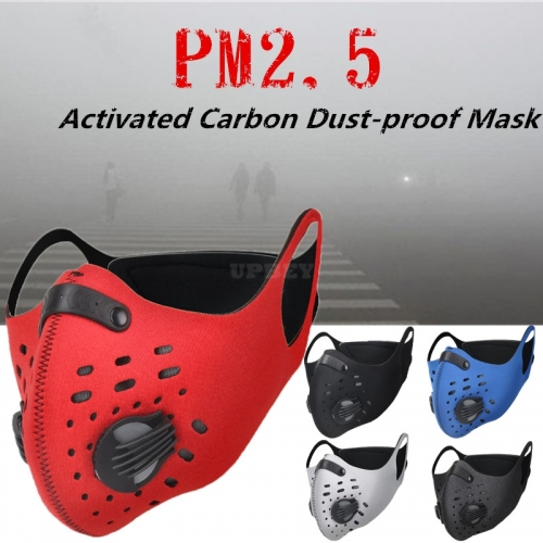 Unisex Activated Carbon Dust - proof Sports Healthy Mask Riding Sports Mask  red_One size