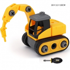 Children Take Apart Construction Educational DIY Engineering Vehicle Toys Gifts for Kids Piling car