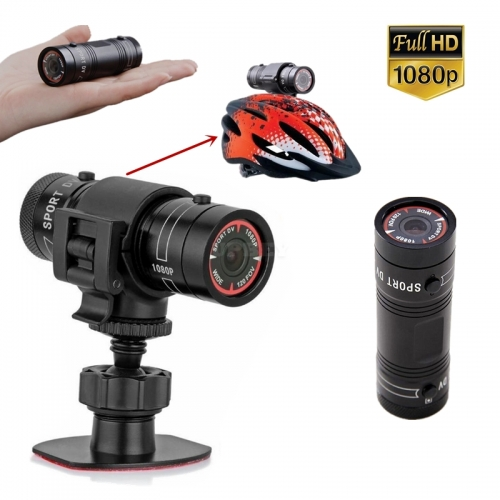 F9 Mini Bike Camera HD Motorcycle Helmet Sports Action Camera Video DV Camcorder Full HD 1080p Car Video Recorder black