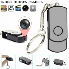Rotating U Disk USB 2.0 Motion Detect Camera Monitor 1280*960 without WIFI black