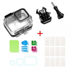 For Gopro Hero 8 Camero Screen Device Waterproof Case Screen Tempered Film Anti-fog Film Overall Protection Waterproof shell + anti-fog film + tempere