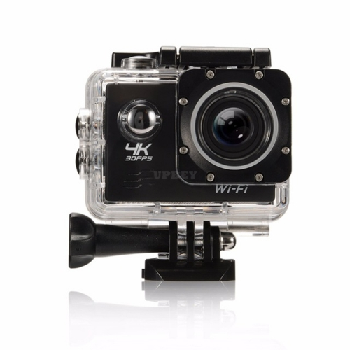 4K Ultra HD WiFi Sports Camera 16MP 170 Degree Wide Angle 2.0 Inch Waterproof Diving Camera with 2 Batteries,black