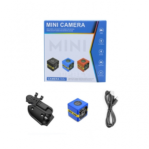FX01 Mini Camera HD 1080P Sensor Night Vision Camcorder Motion DVR Micro Camera Sport DV Video Small Camera  blue
