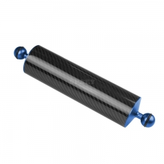 5/8/10/12 Inch Carbon Fiber Float Buoyancy Aquatic Arm Dual Ball Floating Arm Diving Camera Underwater Diving Tray blue