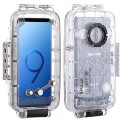 PULUZ 40m/130ft Waterproof Case Diving Housing Underwater Cover Case for Samsung Galaxy S9 S9 Plus Galaxy S9 transparent color