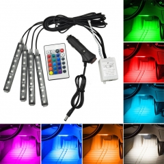 RGB LED Decoration Footlight Remote Control Colorful Music  Lamp Bar Colorful