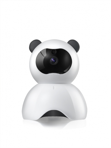 Indoor IP Camera - 1/4-Inch CMOS, 720P HD Video, Remote Access, 20m Night Vision Support, 120-Degree Viewing Angle, Panda Design