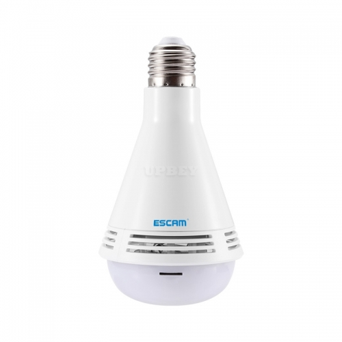 ESCAM QP137 2MP HD 1080P 360 Degree Panoramic Bluetooth Speaker Bulb IP Camera