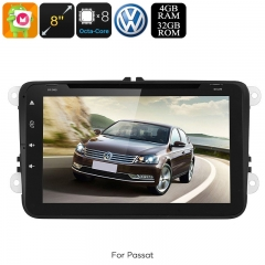 Dual-DIN Car Media Player - For Volkswagen Passat, Android 9.0.1, WiFi, GPS, CAN BUS, Octa-Core, 4GB RAM, HD Display, DVD