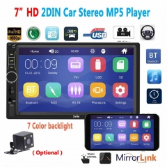 A7 2 Din 7 inch Car Radio Autoradio Universal Car Multimedia MP5 Player HD Bluetooth Usb Flash Drive Phone Interconnect MP3 Player Radio With camera