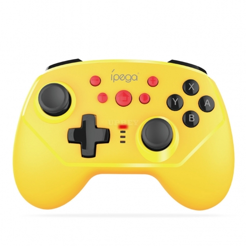 Game Controller Handle for Switch Games 6-axis Vibration Supports Both Wireless Bluetooth or Wired Connection Yellow