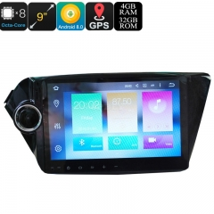 9 Inch 2 DIN Android Media Player - Android 9.0.1, Octa-Core, 32GB ROM, 3G, 4G, GPS, Google Play, Fits KIA K2 New Rio Cars