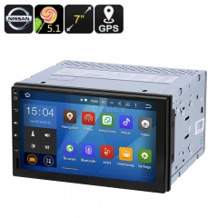 Universal Nissan 2 DIN Car Media Player - 7-Inch display, Android 9.0.1, GPS, Bluetooth, Google Play, FM Radio