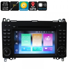 7 Inch Android Car DVD Player For Benz - Dual-Din, Octa Core, 4+32GB, Can Bus, GPS, 3G and 4G Support, Wifi, Bluetooth
