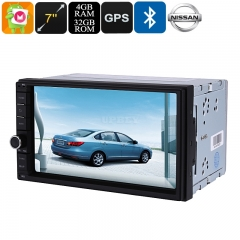 2 DIN Car Media Player 7 Inch Display, For Nissan Cars, Bluetooth WiFi 3G&4G Octa-Core, 4GB RAM, GPS, HD Display, Android 9.0.1