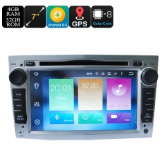 Universal 7 Inch Car Media Player For Opel - Android 9.0.1, Octa Core, 4+32GB, Can Bus, GPS, 3G and 4G Support, Wifi, Bluetooth