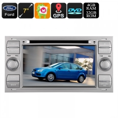 Dual-DIN Car DVD Player - Fits Numerous Ford Cars, Android OS, Octa-Core, 4GB RAM, Bluetooth, 3G&4G, GPS, CAN BUS, Google Play