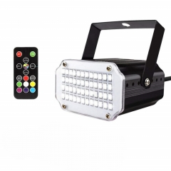 48LEDs 7Colors Strobe Light with Remote Sound Activated Super Bright Flashing Stage Light