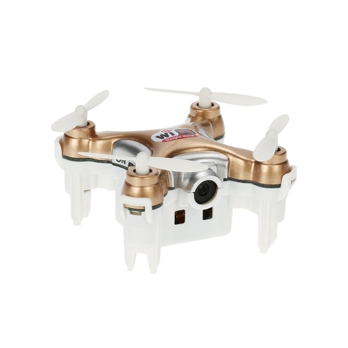 Cheerson CX-10WD-TX 2.4GHz 4CH 6-axis Wifi FPV Quadcopter 3D Eversion Mini Drone With 0.3MP Camera Gold without remote control