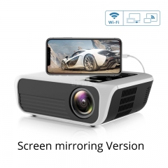 T500 Mini Projector 1080P High Definition LED Home Digital Projector Portable for Mobile Phone white