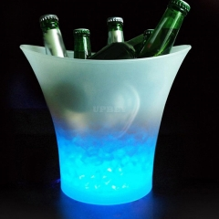 5L Glowing LED Ice Bucket with Blue Light For Champagne Wine Drink Beer Ice Cooler for KTV Party Bar