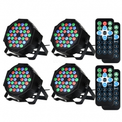 LITAKE 4 Packed 36 LED Colorful  Lights 7 Lighting Modes Stage Lights Flexible Remote Control Disco Lights