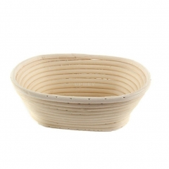 15X8X5CM Baking Dry Basket Oval Shape Rattan Banneton Basket Bread Dough Proving Brotform Bowl Oval