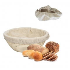 Baking Basket Round Shape Rattan Banneton Basket Bread Dough Proving Brotform Bowl Cloth cover