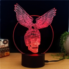 Black Hawk Knight 3D LED Light - 7 Colors, 2 Light Modes, Power Through Micro USB, 5W