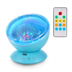 Ocean Wave Music Projector LED Night Light Blue
