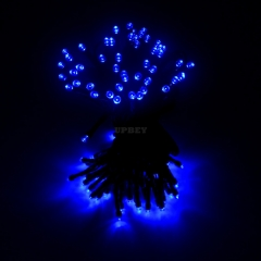 22M 200LEDs String Light with Solar Strip Night Light Lamp Fairy Lights for Outdoor Christmas Trees Wedding Garden blue
