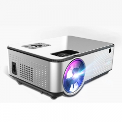 C9UP Android Projector 1280*720P Support 4K Videos Via HDMI Home Cinema Movie Video Projector Silver black