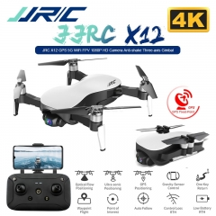 JJRC X12 Anti-shake 3 Axis Gimble GPS Drone WiFi FPV 1080P 4K HD Camera Brushless Motor Foldable Quadcopter Vs H117s Zino White 4k 1 battery