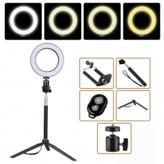 16cm Dimmable LED Ring Light Selfie Light Lamp Photo Camera Live Fill-in Light