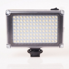 Black Rechargable LED Video Light Lamp Studio Photo Wedding Party Fill-in Light for DSLR Camera