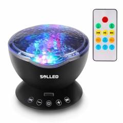 Music Projector Night Light Remote Control Lamp with Built-in Mini Music Player