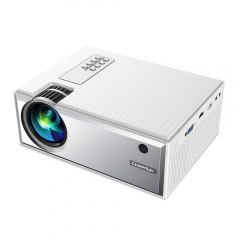 C8 Portable Android Video Projector 1280*720P Native Resolution With WIFI Bluetooth Home Cinema Movie Beamer white