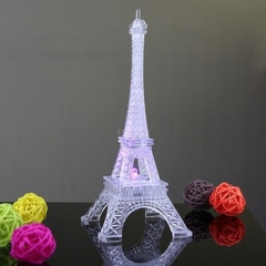 Colorful Romantic Eiffel Tower LED Night Light Desk Wedding Bedroom Decorate Lamp Child Gift Small