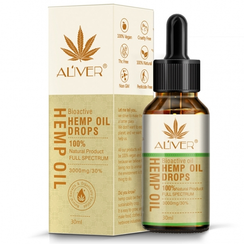 Organic Hemp Seed Oil Pain Relief Massage Oil Herbal Drops Reduce Stress Sleep Aid Body Oil Organic Essential Oils yellow