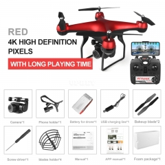 Drone 4k RC Quadcopter Dron with HD 1080P Wifi Camera Video Highly Stable Rc Helicopter F68 Drones Red 4K