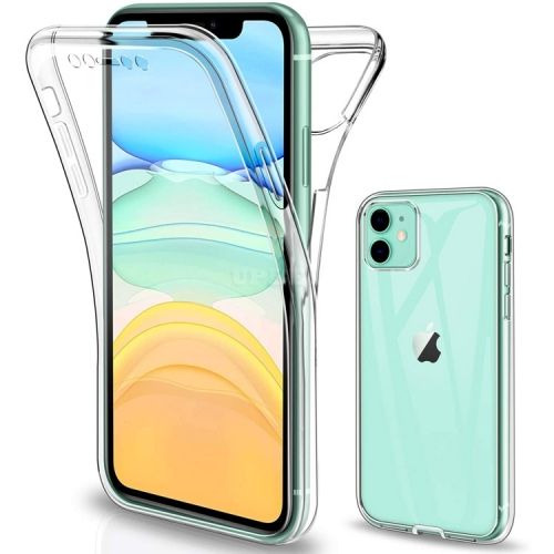 Cover Case TPU Full Protect Clear Front + Back for Apple iPhone 12 / 11 / 11 Pro / 11 Pro Max / SE 2020 / X-XS / XS Max / XR / 7-8 / 7-8 Plus / 6-6S /