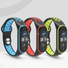 Replacement Silicone for Xiaomi Mi Band 5 3 4 Many Colors Porous Anti-sweat Sport Breathable BuckleWrist Strap